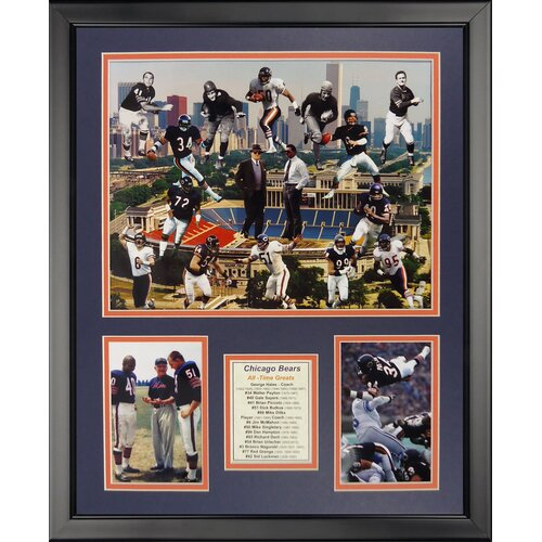 Legends Never Die Chicago Bears - Bear Greats Framed Photo Collage