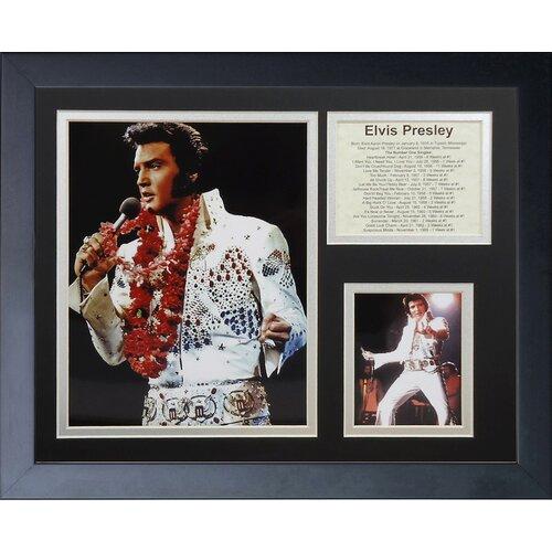 Elvis Presley White Suit Framed Photo Collage