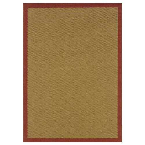 Oriental Weavers Lanai Beige/Red Border Outdoor Rug