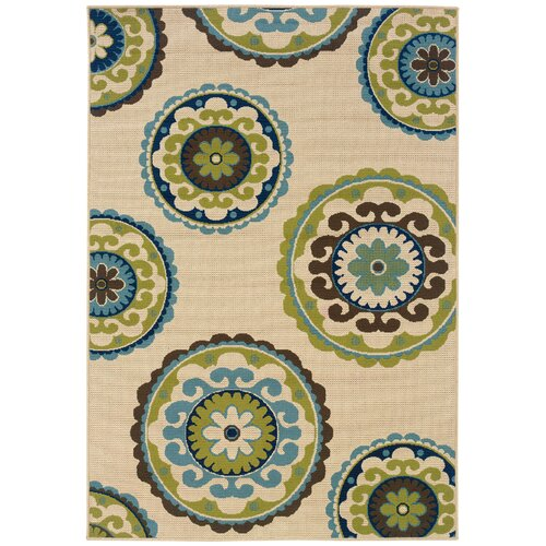 Oriental Weavers Caspian Ivory/Green Indoor/Outdoor Rug