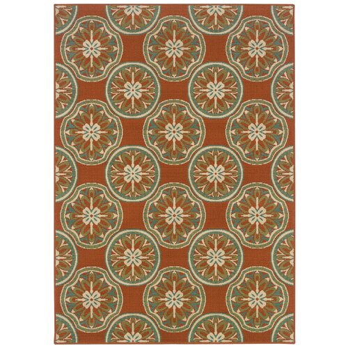 Oriental Weavers Montego Orange/Ivory Outdoor Rug