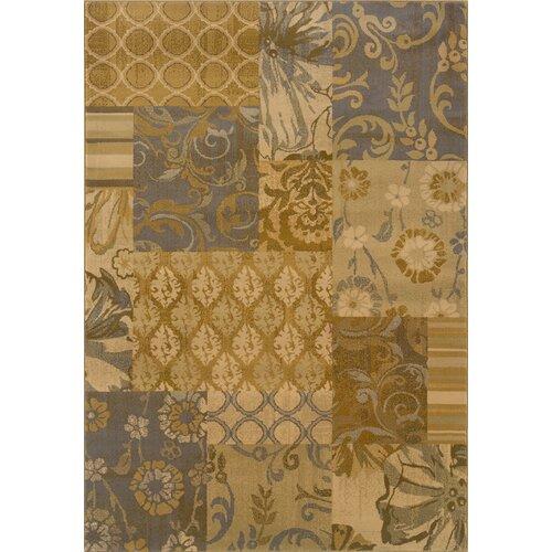Stella Gold/Gray Floral Rug