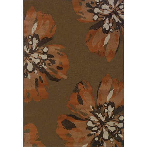 Oriental Weavers Adrienne Brown/Orange Floral Rug