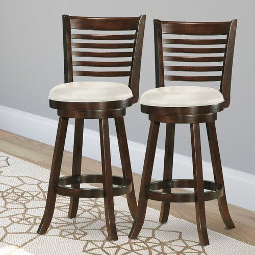 Woodgrove 29quot Wood Swivel Bar Stool with Cushion Wayfair : CorLiving Woodgrove 29 Wood Swivel Bar Stool with Cushion from www.wayfair.com size 500 x 500 jpeg 77kB