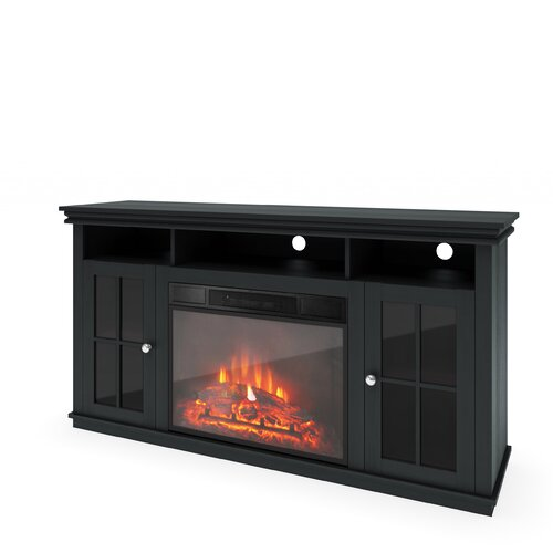 real flame rutherford ventless tv stand with gel fuel fireplace reviews wayfair. Black Bedroom Furniture Sets. Home Design Ideas