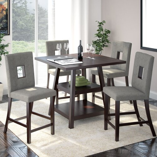 corliving bistro 5 piece counter height dining set