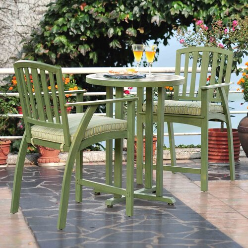 Berry Creek 3 Piece Bistro Set with Cushions