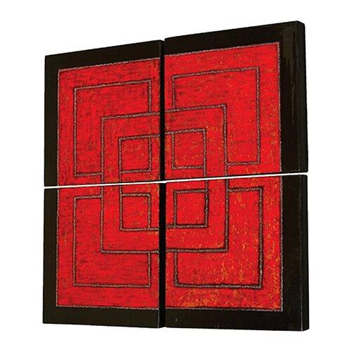 Howard Elliott Wall Panels 4 Piece Graphic Art Set