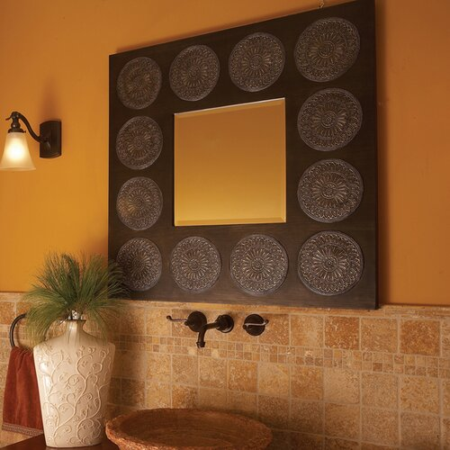 Transitional Hayworth Square Wall Mirror