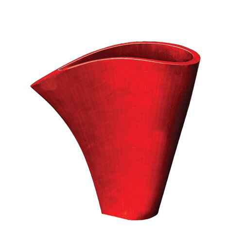 Short Asymmetrical Fan Vase