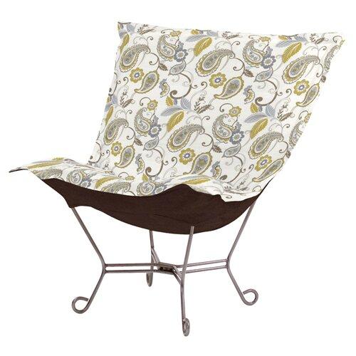 Puff Scroll Paisley Lounge Chair