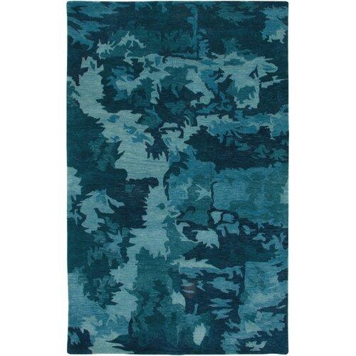 Highland Blue Abstract Rug