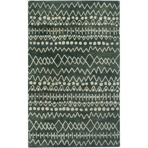 Highland Charcoal Abstract Rug