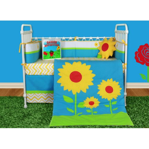 Sunflower Love 6 Piece Crib Bedding Collection