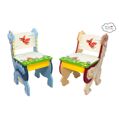 Fantasy Fields Dinosaur Kingdom Kids 3 Piece Table and Chair Set