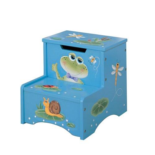Fantasy Fields 2-Step Froggy Step Stool with Storage