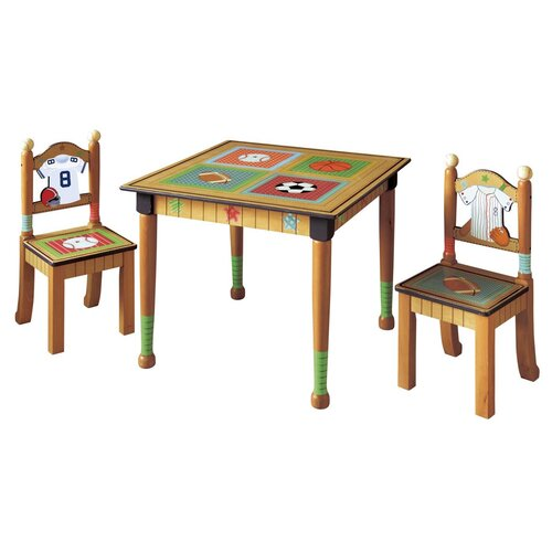Kids 3 Piece Rectangular Table and Chair Set