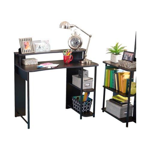 zipcode design computer desk with shelf bookcase set