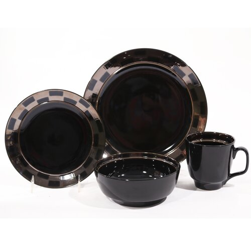 Checkered 16 Piece Dinnerware Set