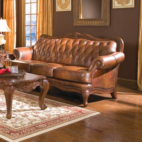 Wildon Home ® Valencia Leather Loveseat