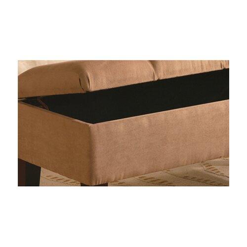Wildon Home ® Bridal Veil Microfiber Bedroom Storage Ottoman