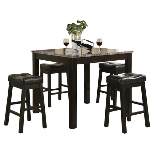 Wildon Home ® Beddington 5 Piece Counter Height Pub Set