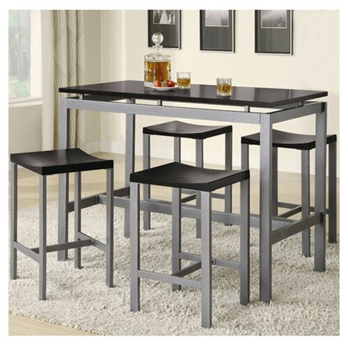 Wildon Home ® Freedom 5 Piece Counter Height Pub Set