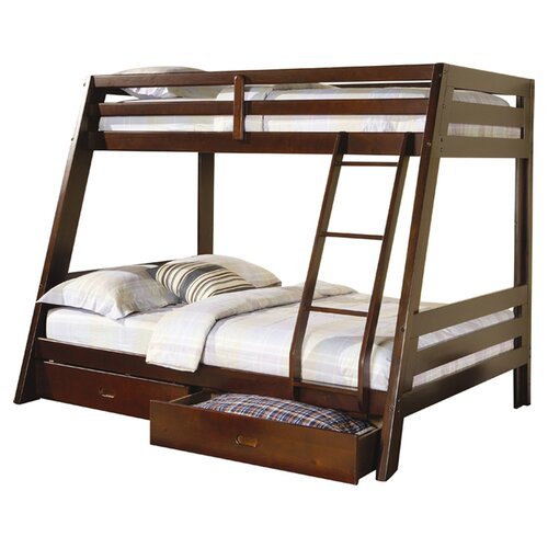 Wildon Home ® Mullin Twin over Full Bunk Bed with Built in Ladder and Storage