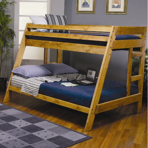 Wildon Home ® San Anselmo Twin over Full Bunk Bed with Built-In Ladder