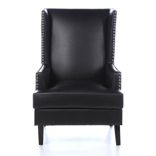 leather wingback chair wayfair