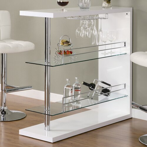 Modern Kitchen Bar Table: Pub Table Bar Counter Height Furniture Bistro Glass