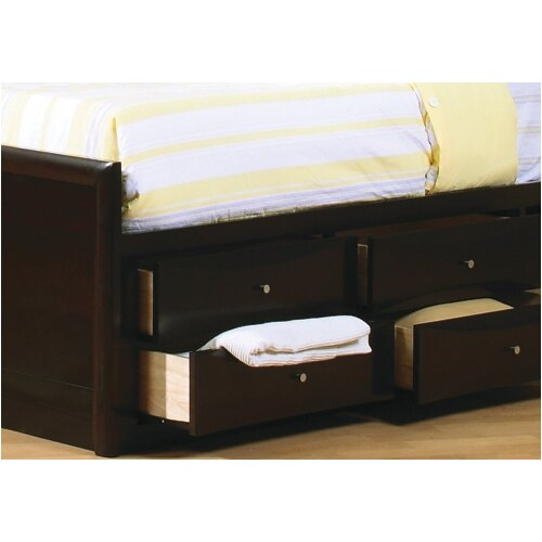 Wildon Home ® Applewood Chest Bed in Rich Deep Cappuccino