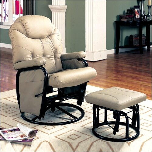 Wildon Home ® Gearhart Glider Rocker with Ottoman