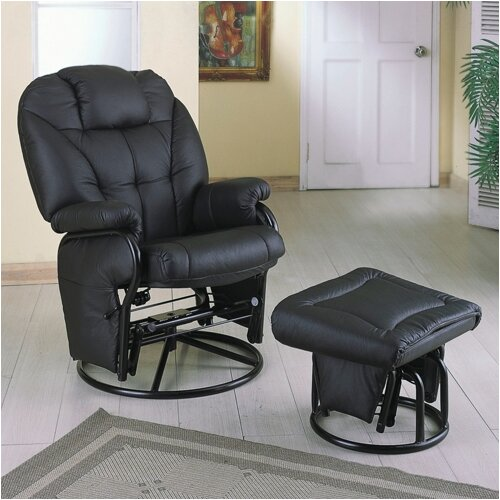 Glenwood Swivel Glider and Ottoman