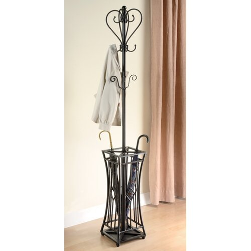 Wildon Home ® Metal Coat Rack with Umbrella Stand