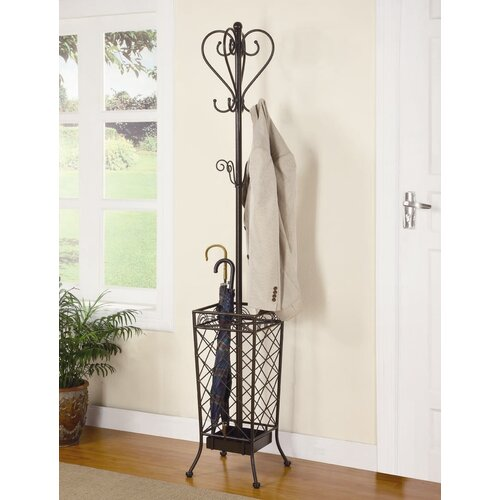Wildon Home ® Metal Coat Rack with Umbrella Stand