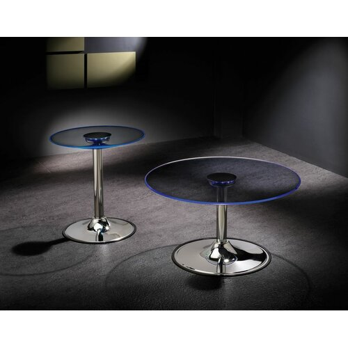 Wildon Home ® Coffee Table with LED Light
