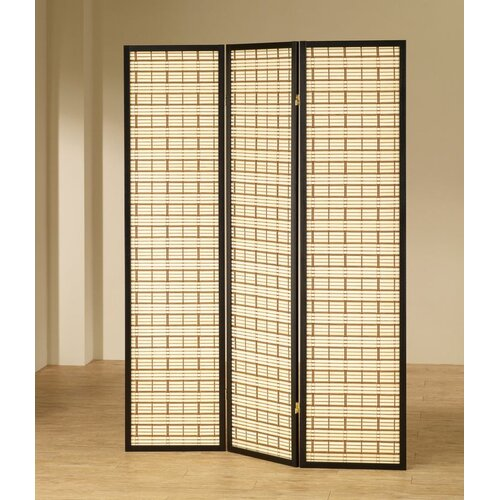 "Wildon Home ® 70.25"" x 52"" Folding 3 Panel Room Divider"