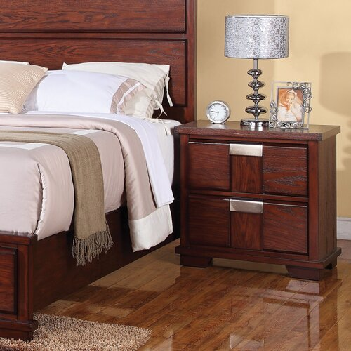 Wildon Home ® Manchester 2 Drawer Nightstand