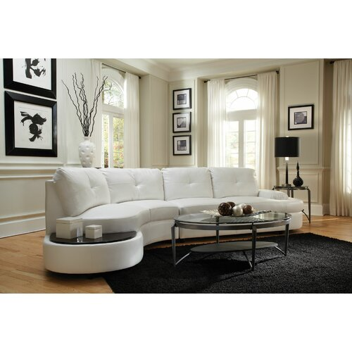 Wildon Home ® Anna Bonded Leather Sectional