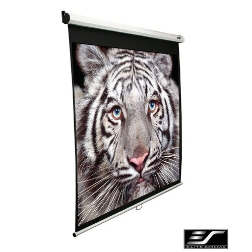 "Elite Screens Manual SRM Series MaxWhite 100"" Projection Screen"
