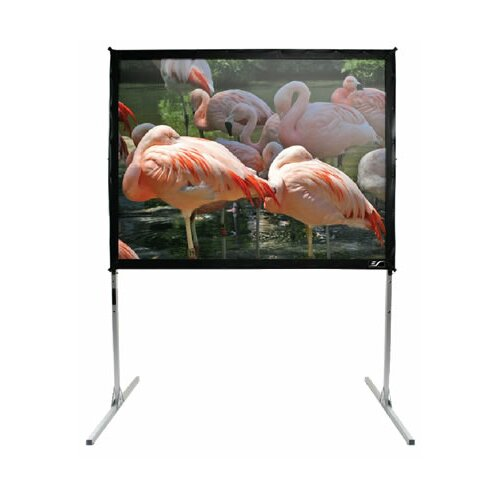 "Elite Screens QuickStand Series Cine White 250"" Diagonal Portable Projection Screen"