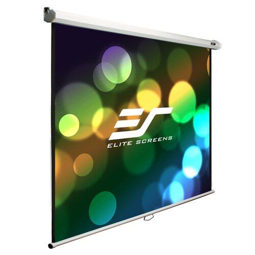 "Elite Screens Manual B Series MaxWhite 100"" Projection Screen"