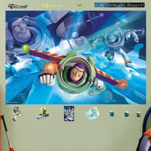 Disney buzz lightyear wall mural wayfair for Buzz lightyear wall mural