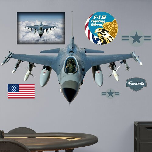 Military F-16 Fighting Falcon Wall Decal