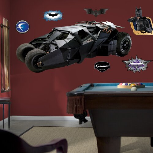 The Dark Knight Batmobile Wall Decal