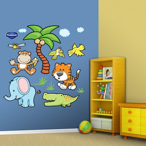 Fathead Jungle Animals Group Two Wall Decal