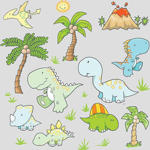 Fathead Baby Dinosaurs Wall Decal