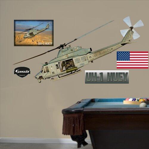 Military UH-1 Huey Wall Decal