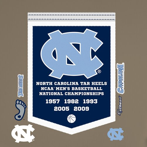 NCAA North Carolina Tar Heels Basketball Championship Banner Wall Decal